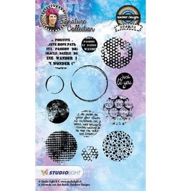 Studio Light Mix Med. Studio Light Stamp A6 Mixed Media Rainbow Designs nr 17 STAMPMB17