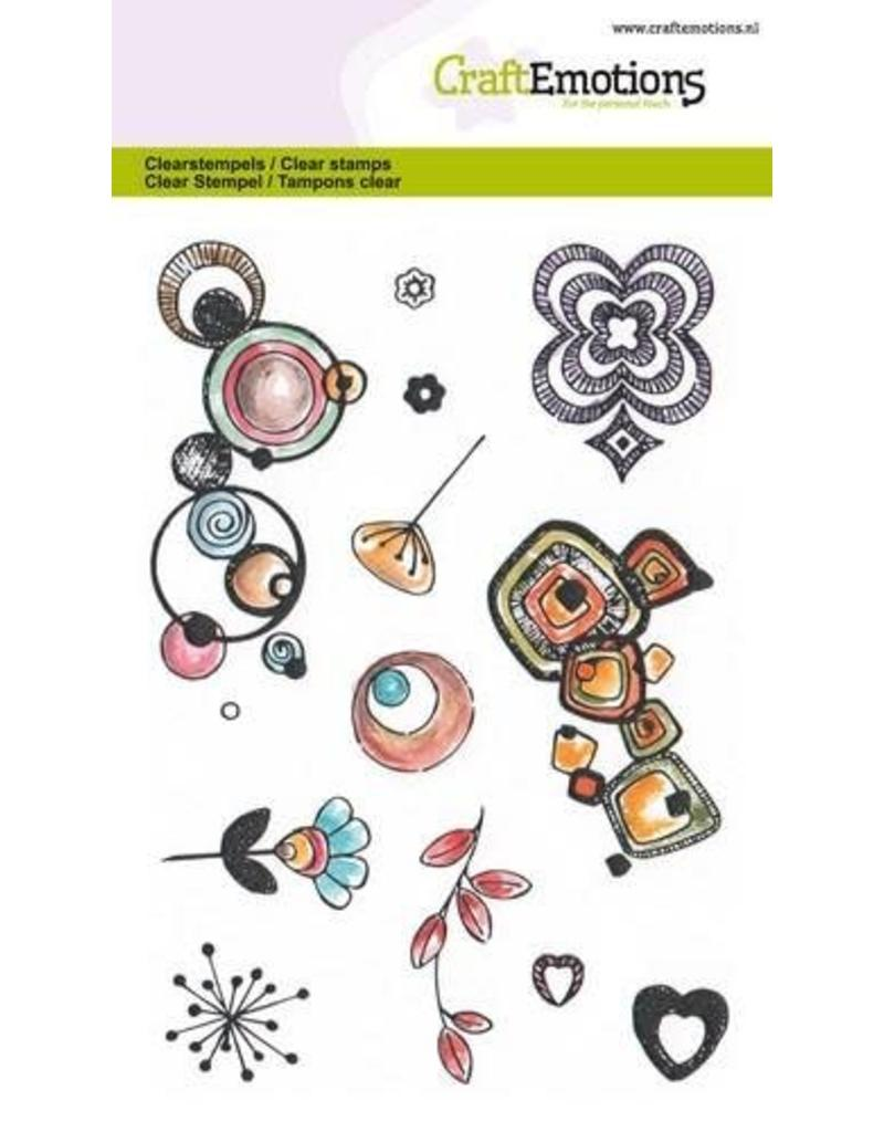 Craft Emotions CraftEmotions clearstamps A6 - Retro prints