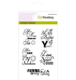 Craft Emotions CraftEmotions clearstamps A6 -tekst EN you are my sunshine