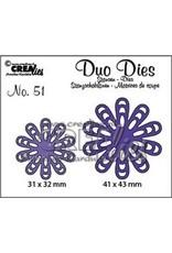 Crealies Duo Dies no. 51 bloem 22 CLDD51 / 31x32, 41x43mm