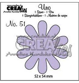 Crealies Uno nr. 51 bloem 22 CLUno51 / 52x54mm