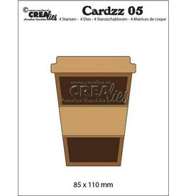 Crealies Cardzz nr 05 Mok om mee te nemen CLCZ05 85x110mm