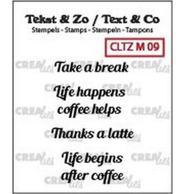 Crealies Clearstamp Tekst & Zo mini tekst (ENG) CLTZM09
