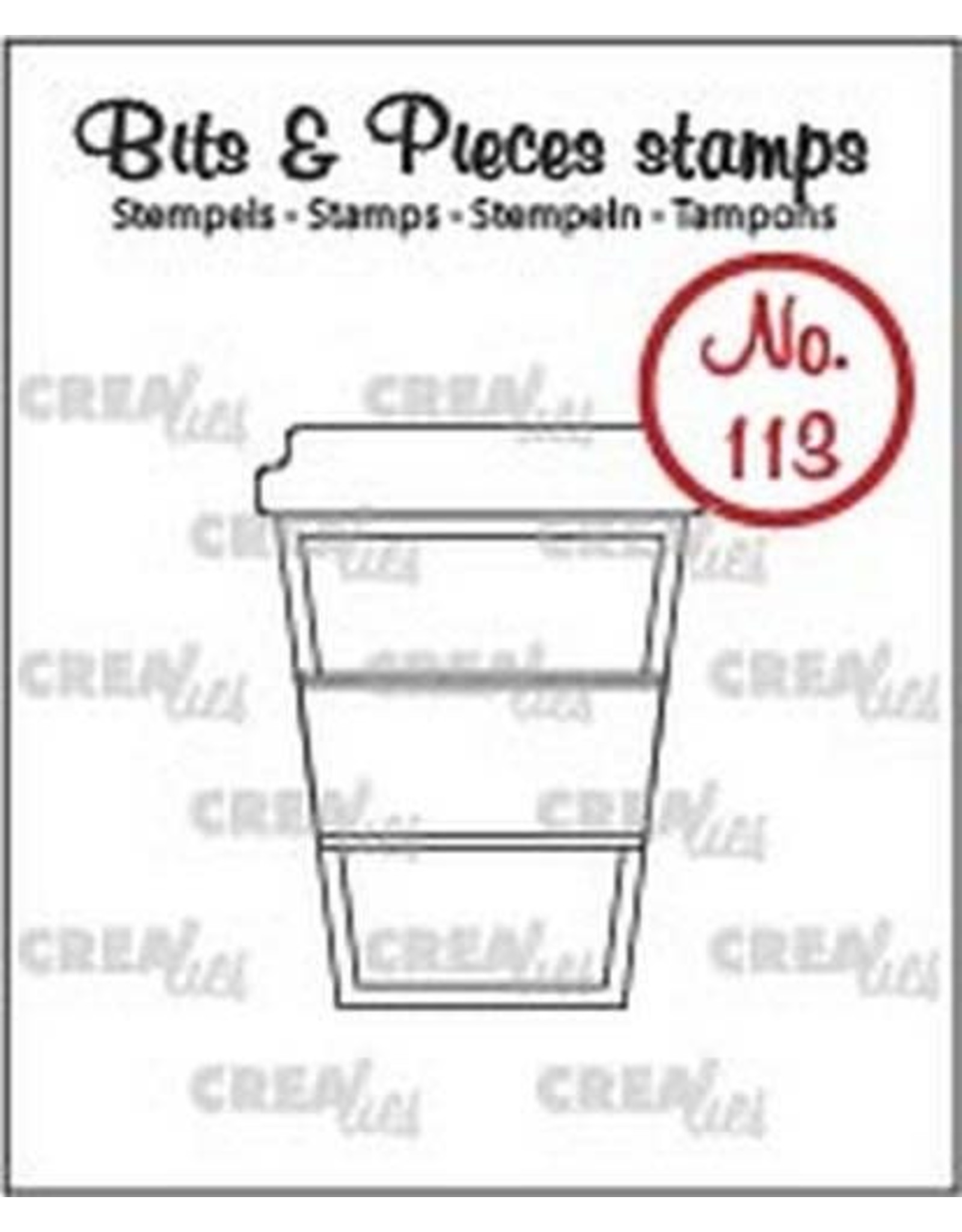 Crealies Clearstamp Bits & Pieces no. 113 koffie om mee te … CLBP113 / 26x34mm