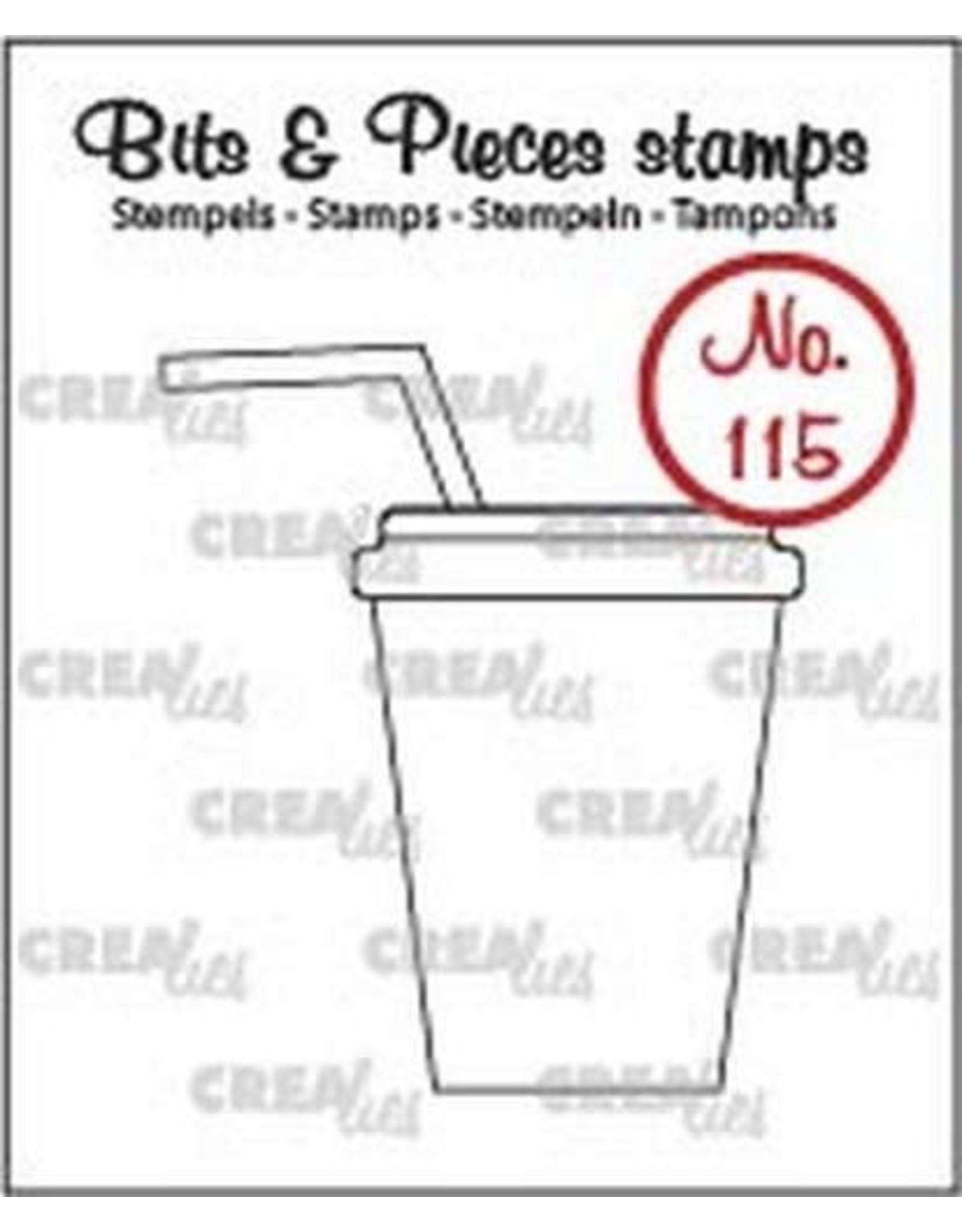 Crealies Clearstamp Bits & Pieces no. 115 softdrink/milksh. CLBP115 / 37x43mm