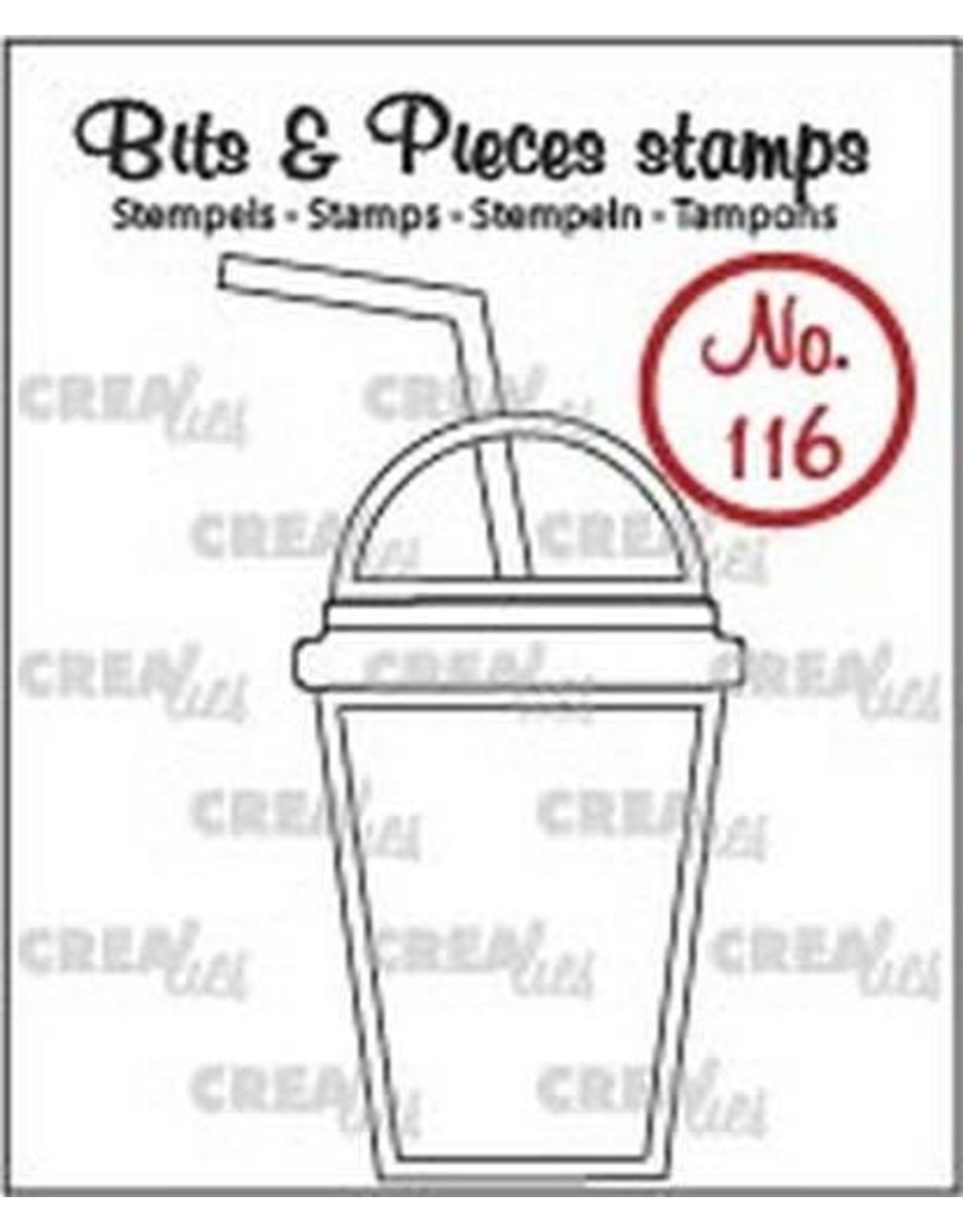 Crealies Clearstamp Bits & Pieces no. 116 smoothie CLBP116 / 30x53mm