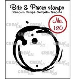 Crealies Clearstamp Bits & Pieces 120 koffievlek L CLBP120 / 42x43mm