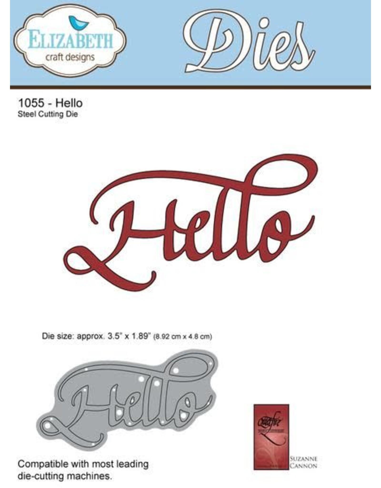 Elizabeth Craft Designs Elizabeth Craft Designs dies A Way With Words, Hello 1055