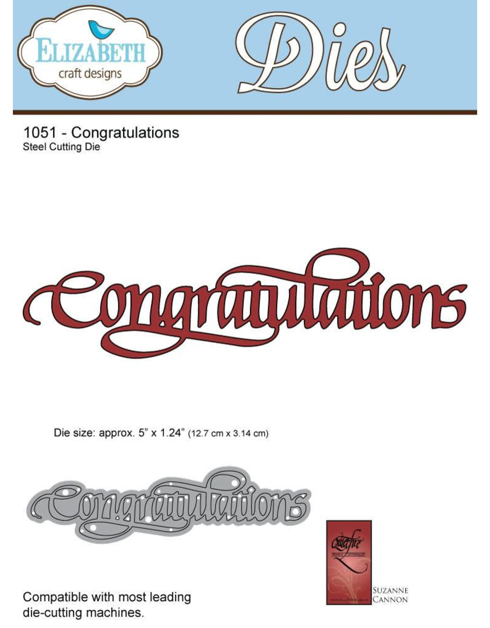 Elizabeth Craft Designs Elizabeth Craft Designs A Way With Words, Congratulations 1051