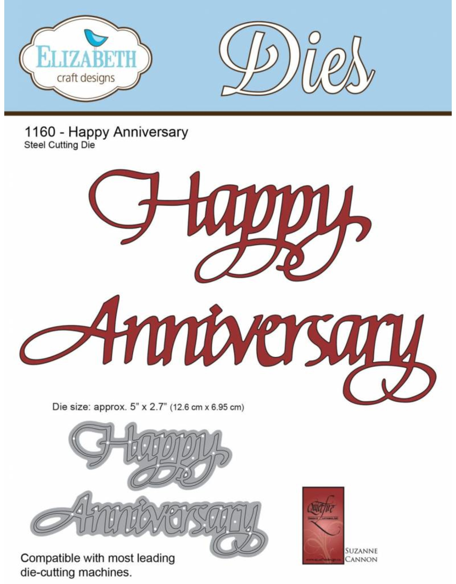 Elizabeth Craft Designs Elizabeth Craft Designs A Way With Words, Happy Anniversary  1160