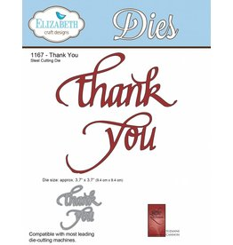 Elizabeth Craft Designs Elizabeth Craft Designs dies A Way With Words, Thank You 1167