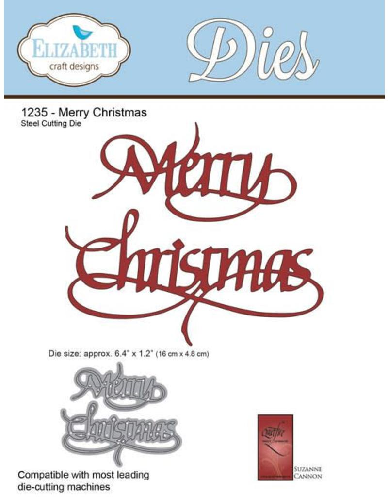 Elizabeth Crafts Design dies A Way With Words, Merry Christmas 1235 ...