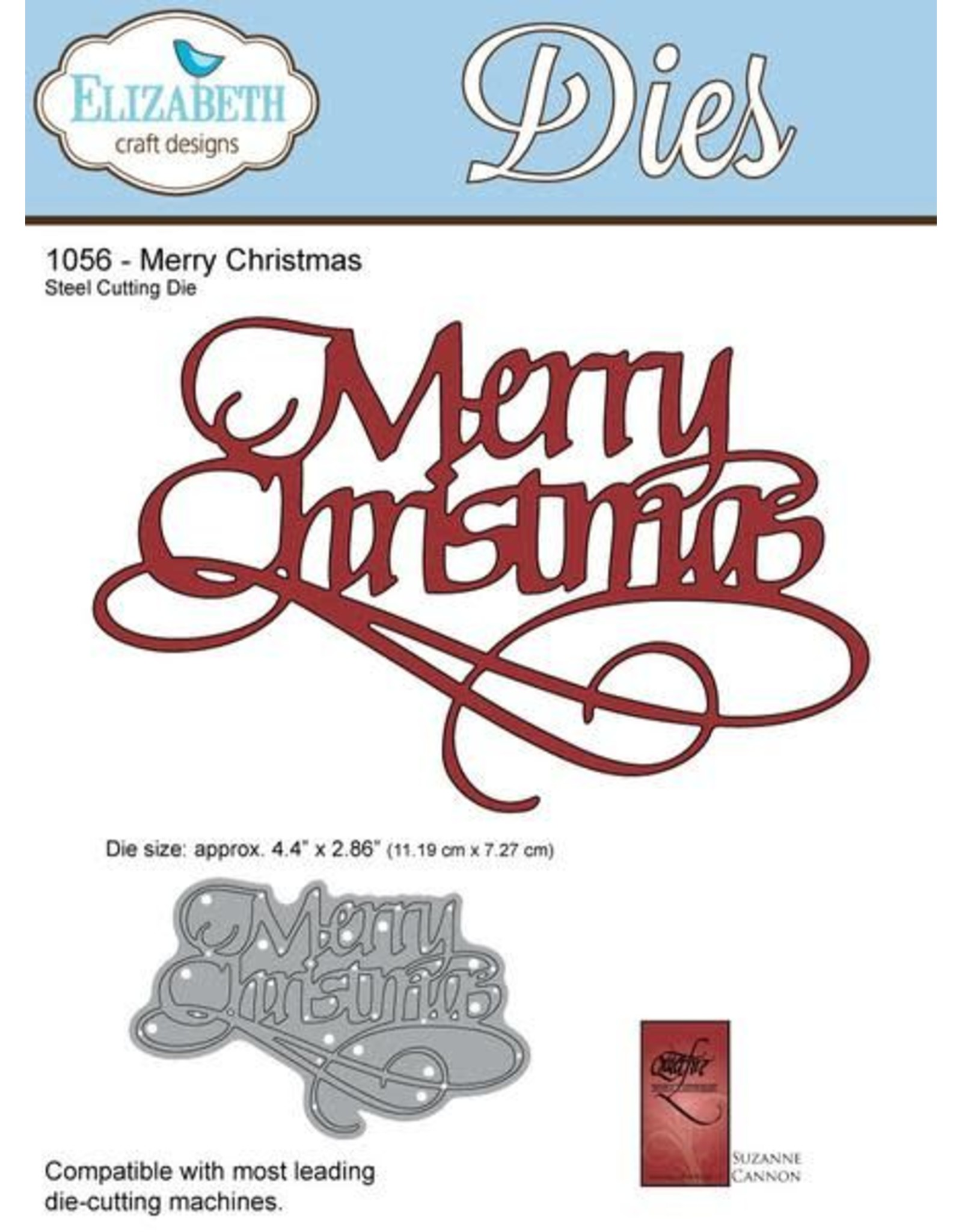 Elizabeth Craft Designs Elizabeth Craft Designs dies A Way With Words, Merry Christmas 1056
