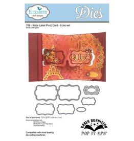 Elizabeth Crafts Design dies  Pop It Ups Collection by Karen Burniston - Die - Katie Label Pivot Card 768