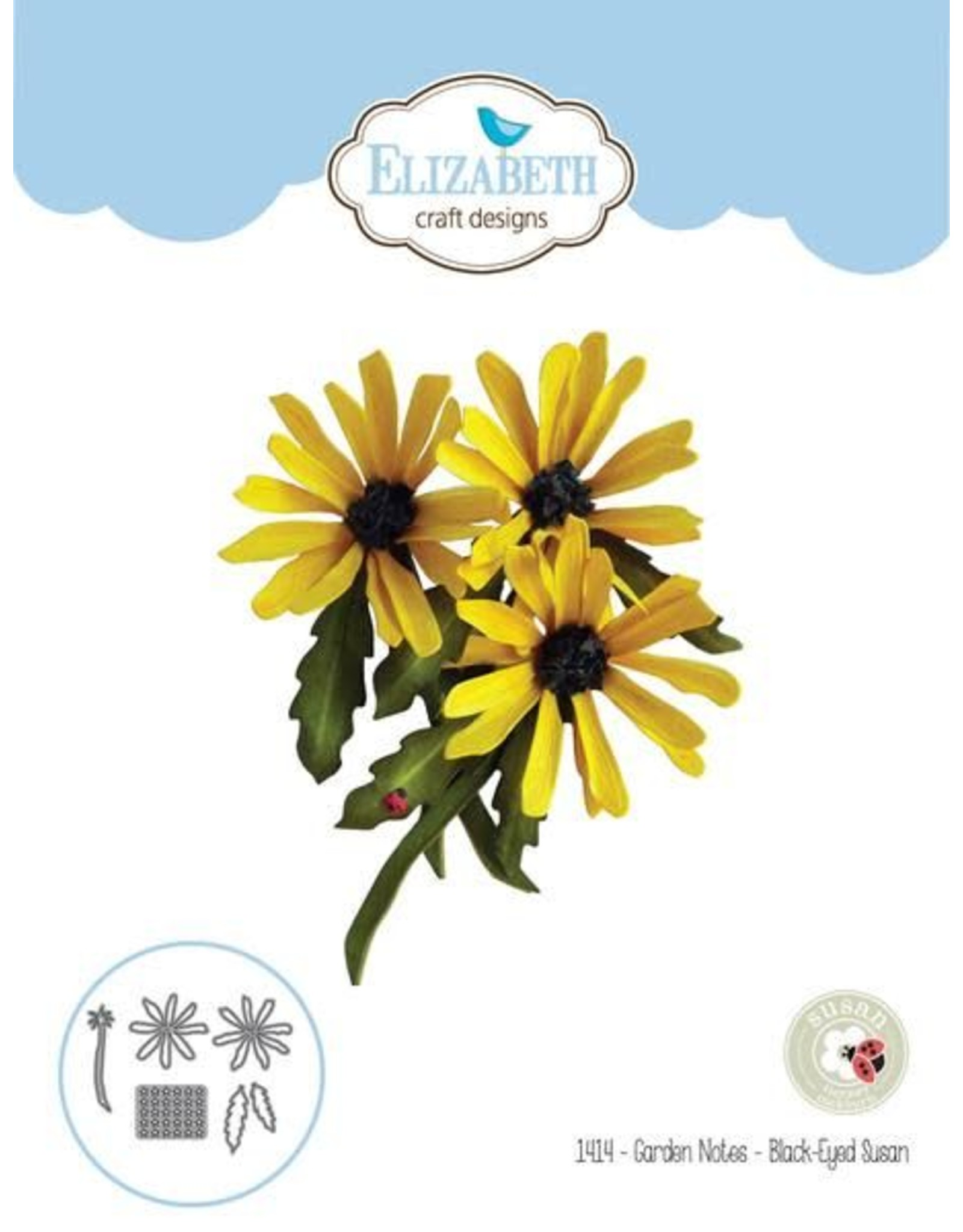 Elizabeth Craft Designs Elizabeth Craft Designs dies Garden Notes - Black-Eyed Susan 1414