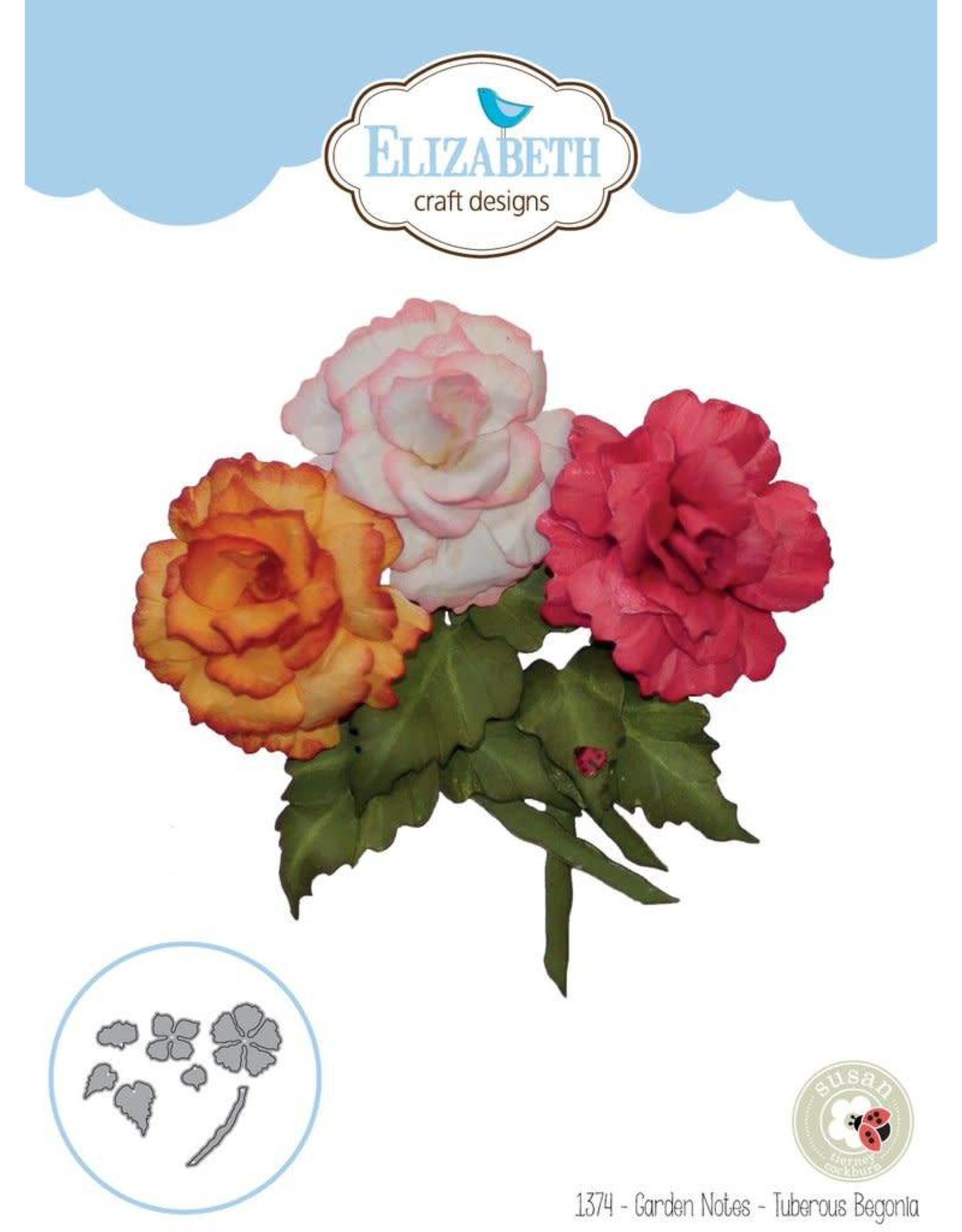 Elizabeth Craft Designs Elizabeth Craft Designs dies Garden Notes - Tuberous Begonia 1374