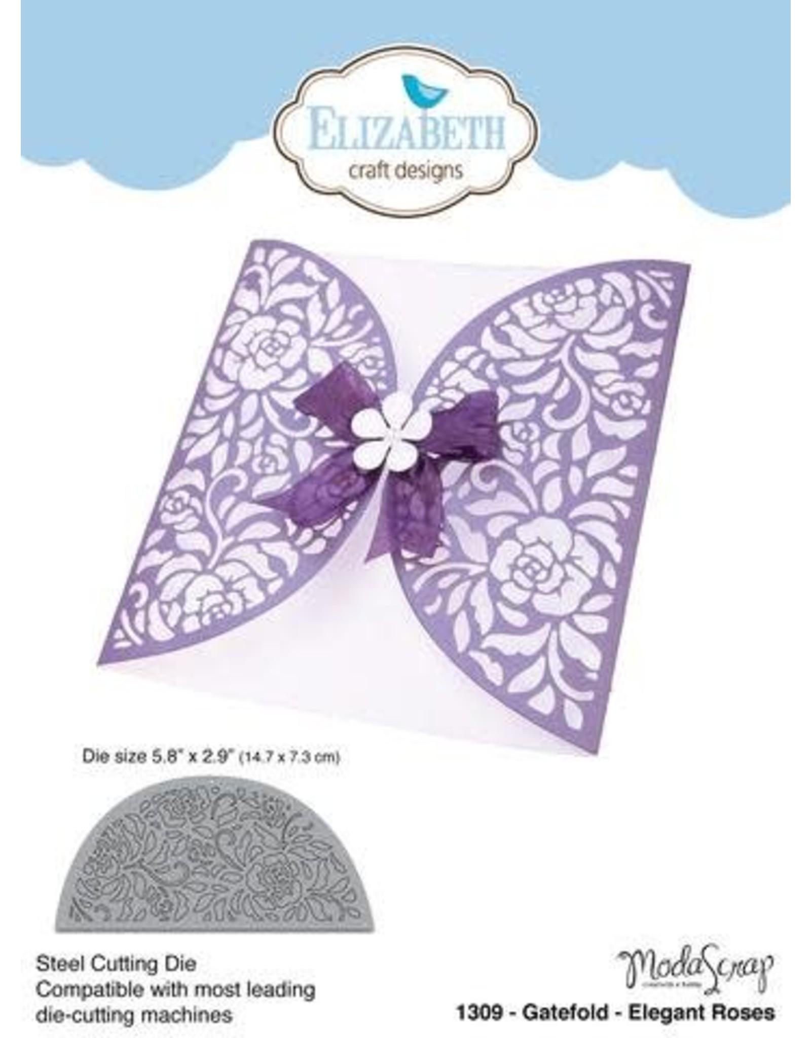 Elizabeth Craft Designs Elizabeth Craft Designs dies Gatefold - Elegant Roses 1309