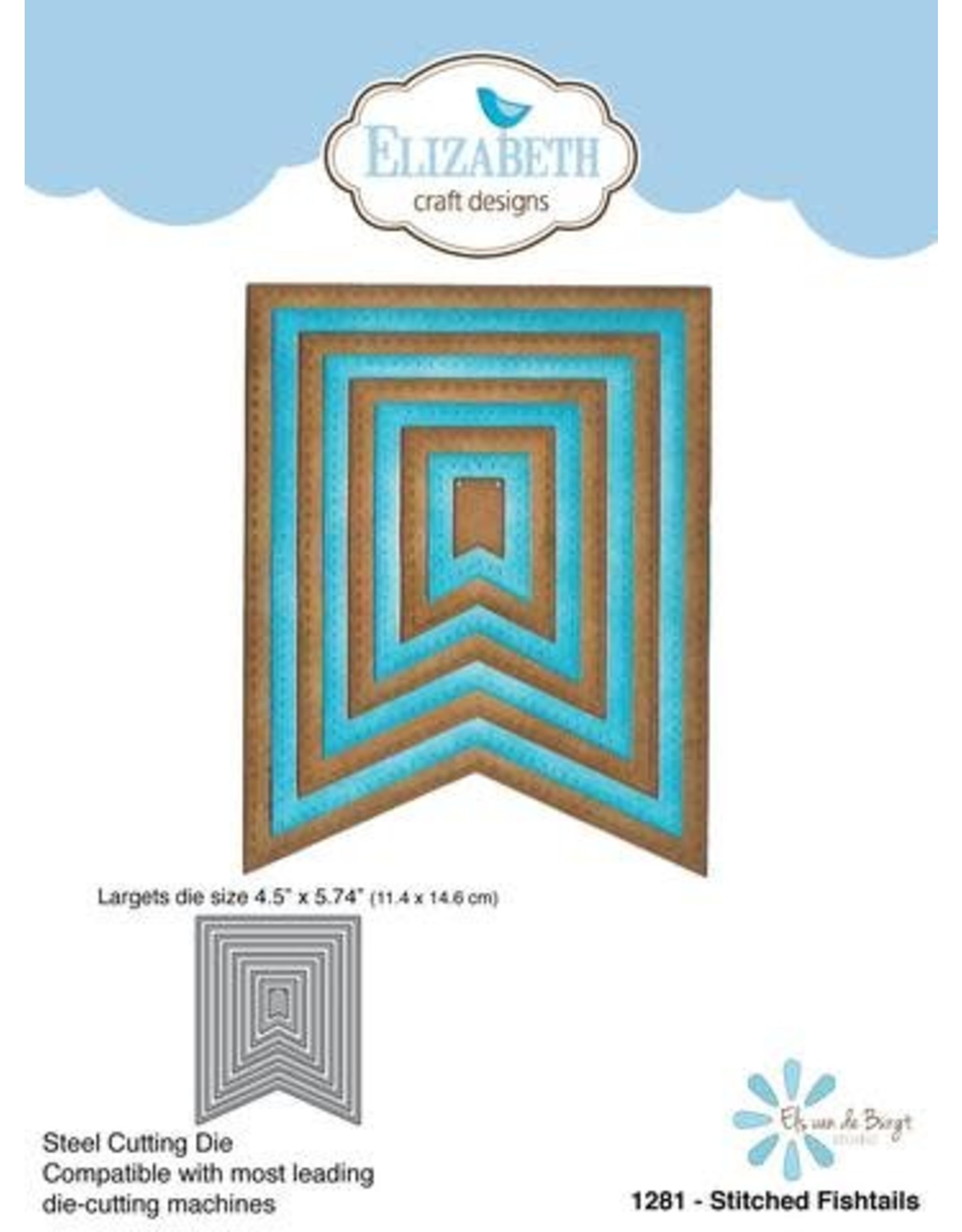 Elizabeth Craft Designs Elizabeth Craft Designs dies Stitched Fishtails 1281