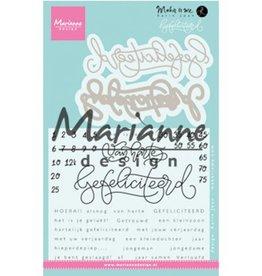 Marianne Design Gefelicteerd KJ1721