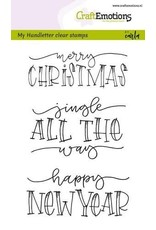 CraftEmotions clearstamps A6 - handletter - Jingle all the (Eng)