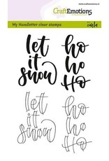 CraftEmotions clearstamps A6 - handletter - Let it snow (Eng