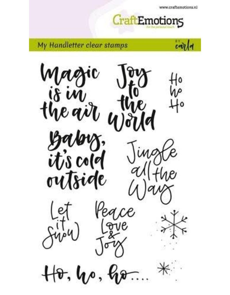 CraftEmotions clearstamps A6 - handletter - text xmas small (Eng)