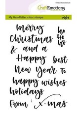 Craft Emotions CraftEmotions clearstamps A6 - handletter - words xmas small (Eng)