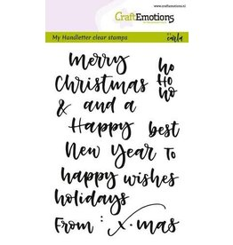 CraftEmotions clearstamps A6 - handletter - words xmas small (Eng)