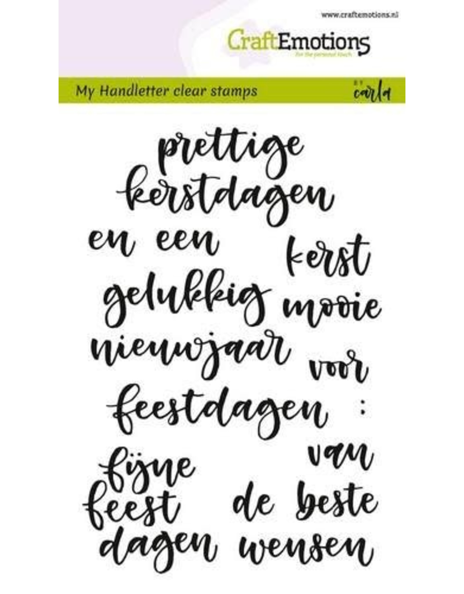 Craft Emotions CraftEmotions clearstamps A6 - handletter - woorden kerst (NL)