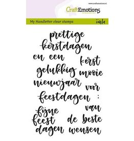 CraftEmotions clearstamps A6 - handletter - woorden kerst (NL)
