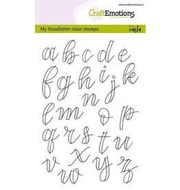 Craft Emotions CraftEmotions clearstamps A6 - handletter - alfabet kl.letters (open)