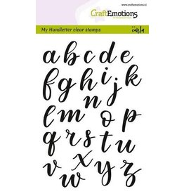Craft Emotions CraftEmotions clearstamps A6 - handletter - alfabet kl.letters (dicht)
