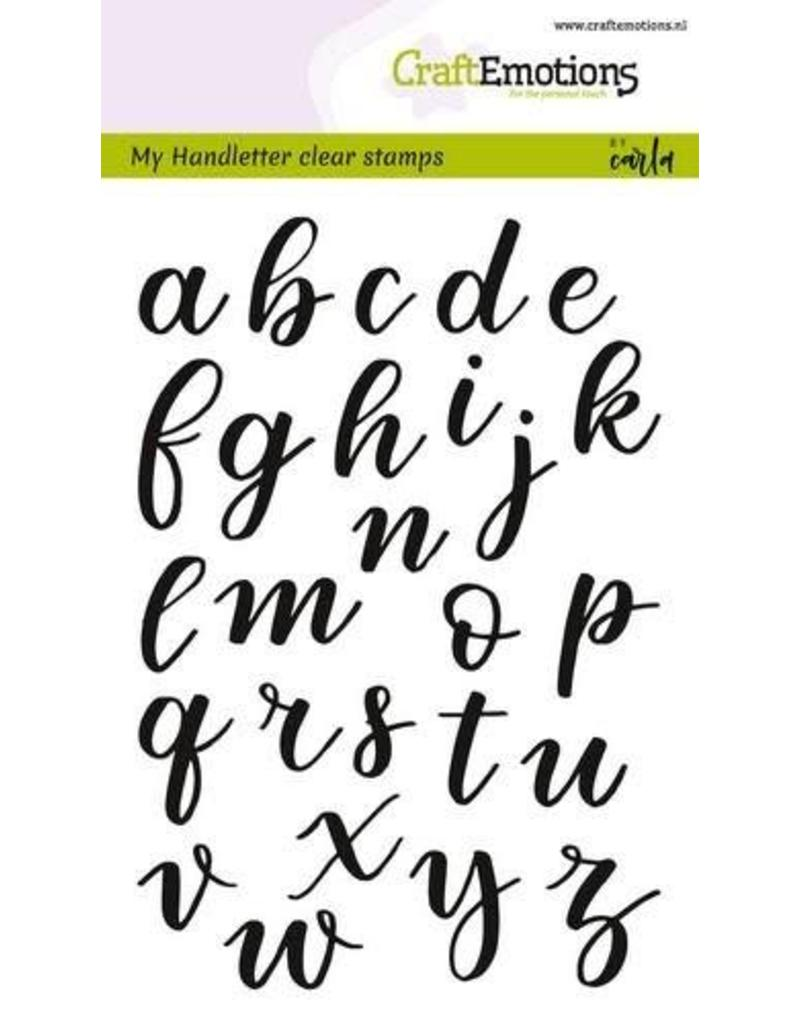 CraftEmotions clearstamps A6 - handletter - alfabet kl.letters (dicht)