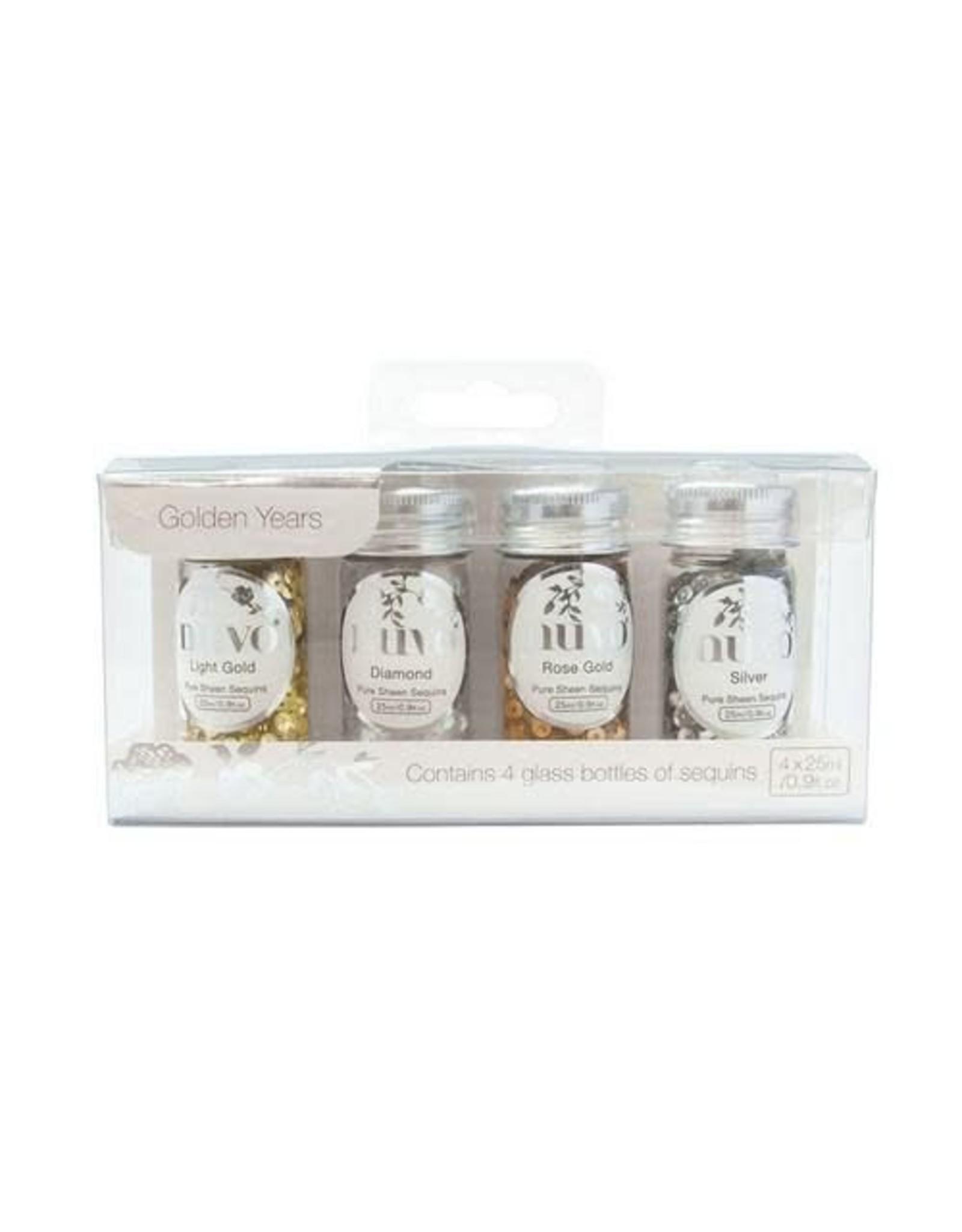 Nuvo pure sheen pailletten - golden years 4 pk 4x25ML 280N