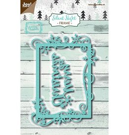 Joy Craft Joy Crafts Snij-embosstencil - Silent Night - Frame Merry Christmas  6002/1145