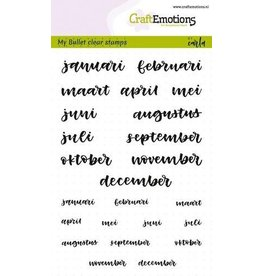 Craft Emotions CraftEmotions clearstamps A6 - Bullet Journal - maanden Nr.2 5-10mm
