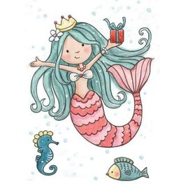 Wild Rose Clear Stamps Wild Rose Studio`s A7 stamp set Mermaid Birthday CL520