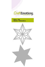 Craft Emotions CraftEmotions Die - draadvorm ster Card 5x10cm