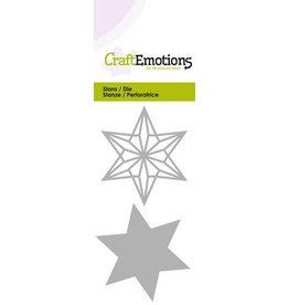 Craft Emotions CraftEmotions Die - draadvorm ster Card 5x10cm