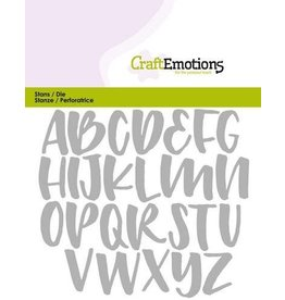 Craft Emotions CraftEmotions Die - alfabet handlettering hoofdletters Card 11x9cm