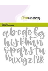 Craft Emotions CraftEmotions Die - alfabet handlettering kleine letters Card 11x9cm