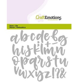 Craft Emotions CraftEmotions Die - alfabet handlettering kleine letters Card 11x9cm