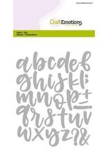 Craft Emotions CraftEmotions Die - alfabet handlettering kleine letters Card 10,5x14,8cm