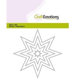 Craft Emotions CraftEmotions Die - randen 8 puntige ster Card 11x14cm