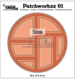 Crealies Crea-nest-dies Crealies Modern Patchwork no.1 stiklijn cirkel CLPW01 max. 13 x 13 cm