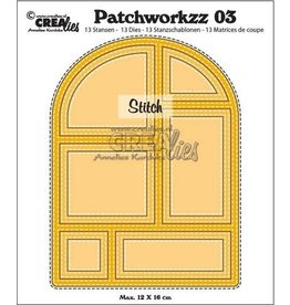 Crealies Crea-nest-dies Crealies Modern Patchwork no.3 stiklijn boog CLPW03 max. 12 x 16 cm