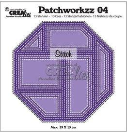 Crealies Crea-nest-dies Crealies Modern Patchwork no.4 stiklijn achthoek CLPW04 max. 13 x 13 cm