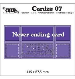 Crealies Crea-nest-dies Crealies Cardzz nr 07 never-ending card CLCZ07 135 x 67,5 mm