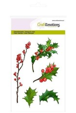 Craft Emotions CraftEmotions clearstamps A6 - bessentakjes en hulst