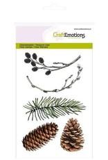 Craft Emotions CraftEmotions clearstamps A6 - dennentak, wilgenkatjes